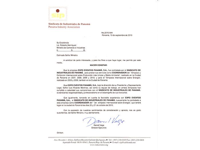SINDICATO DE INDUSTRIALES DE PANAMÁ 2012